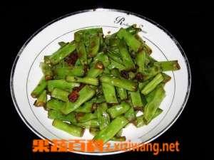干煸豇豆的原料和做法
